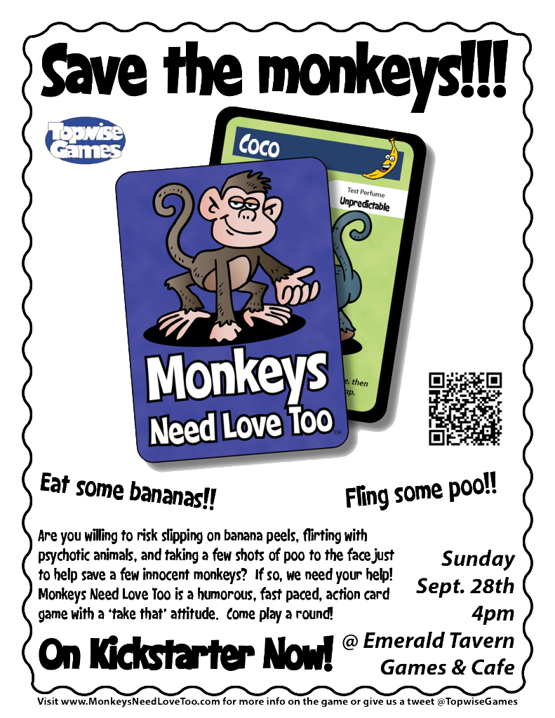Monkeys Need Love Too - ETGC Flyer